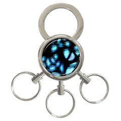 Blue light 3-Ring Key Chains