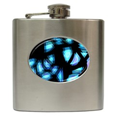 Blue light Hip Flask (6 oz)