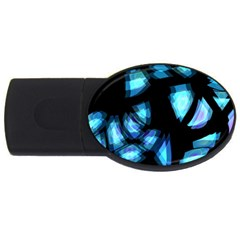 Blue light USB Flash Drive Oval (2 GB)