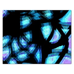 Blue light Rectangular Jigsaw Puzzl