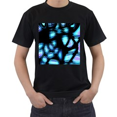 Blue light Men s T-Shirt (Black) (Two Sided)