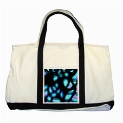 Blue light Two Tone Tote Bag