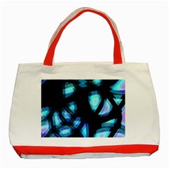 Blue light Classic Tote Bag (Red)