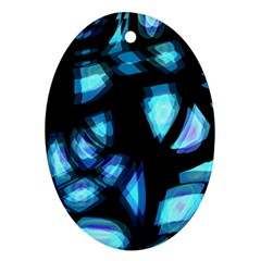 Blue light Oval Ornament (Two Sides)