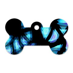 Blue light Dog Tag Bone (Two Sides)