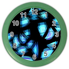 Blue light Color Wall Clocks