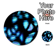 Blue light Multi-purpose Cards (Round)