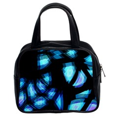 Blue Light Classic Handbags (2 Sides) by Valentinaart