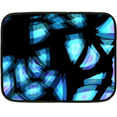 Blue light Double Sided Fleece Blanket (Mini)