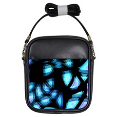 Blue light Girls Sling Bags