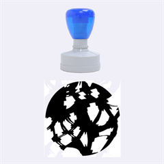 Blue Light Rubber Round Stamps (medium) by Valentinaart