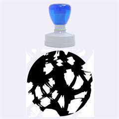 Blue light Rubber Round Stamps (Large)