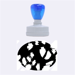 Blue light Rubber Oval Stamps