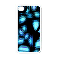 Blue light Apple iPhone 4 Case (White)