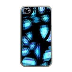 Blue light Apple iPhone 4 Case (Clear)