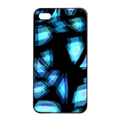 Blue light Apple iPhone 4/4s Seamless Case (Black)