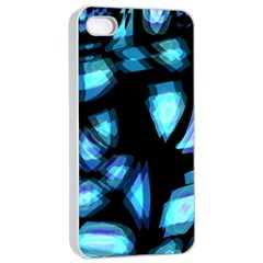 Blue light Apple iPhone 4/4s Seamless Case (White)