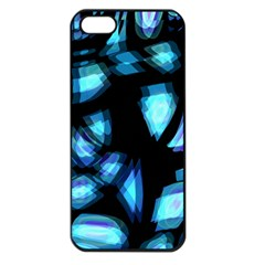 Blue light Apple iPhone 5 Seamless Case (Black)