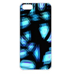 Blue light Apple iPhone 5 Seamless Case (White)