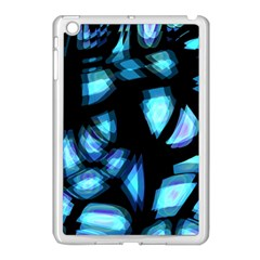 Blue light Apple iPad Mini Case (White)