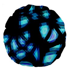 Blue light Large 18  Premium Round Cushions
