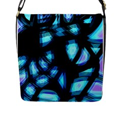 Blue light Flap Messenger Bag (L)