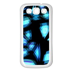 Blue light Samsung Galaxy S3 Back Case (White)