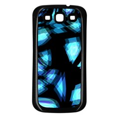 Blue light Samsung Galaxy S3 Back Case (Black)