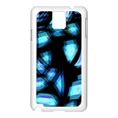 Blue light Samsung Galaxy Note 3 N9005 Case (White)