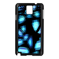 Blue light Samsung Galaxy Note 3 N9005 Case (Black)