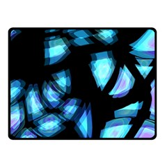 Blue light Double Sided Fleece Blanket (Small)