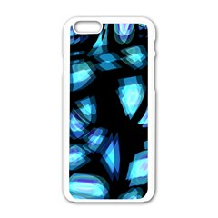 Blue Light Apple Iphone 6/6s White Enamel Case by Valentinaart