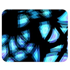 Blue Light Double Sided Flano Blanket (medium)  by Valentinaart