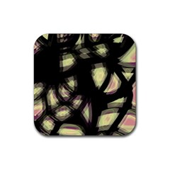 Follow the light Rubber Square Coaster (4 pack)
