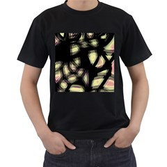 Follow the light Men s T-Shirt (Black) (Two Sided)