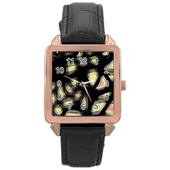 Follow the light Rose Gold Leather Watch