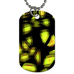 Yellow Light Dog Tag (two Sides) by Valentinaart