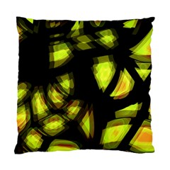 Yellow Light Standard Cushion Case (one Side) by Valentinaart