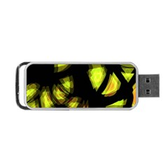 Yellow Light Portable Usb Flash (one Side) by Valentinaart
