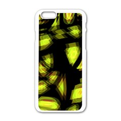 Yellow Light Apple Iphone 6/6s White Enamel Case by Valentinaart