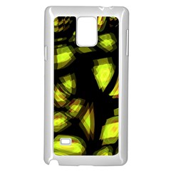 Yellow Light Samsung Galaxy Note 4 Case (white) by Valentinaart