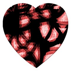 Red Light Jigsaw Puzzle (heart) by Valentinaart