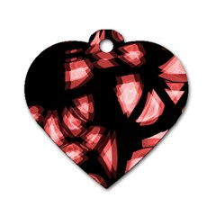 Red Light Dog Tag Heart (one Side) by Valentinaart