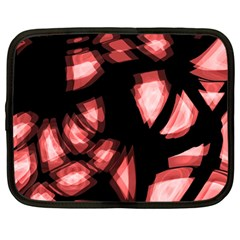 Red Light Netbook Case (large) by Valentinaart