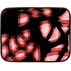 Red Light Double Sided Fleece Blanket (mini)  by Valentinaart