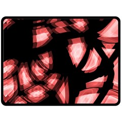 Red Light Double Sided Fleece Blanket (large)  by Valentinaart