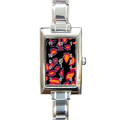 Hot, Hot, Hot Rectangle Italian Charm Watch by Valentinaart