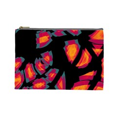 Hot, Hot, Hot Cosmetic Bag (large)  by Valentinaart