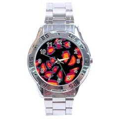Hot, Hot, Hot Stainless Steel Analogue Watch by Valentinaart
