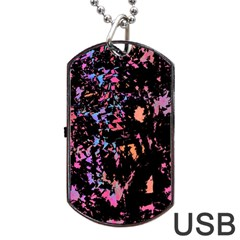 Put Some Colors    Dog Tag Usb Flash (one Side) by Valentinaart